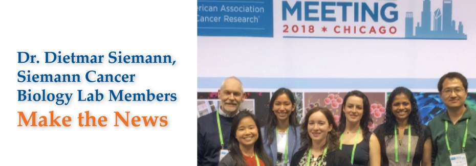 Siemann Lab Members Make the News
