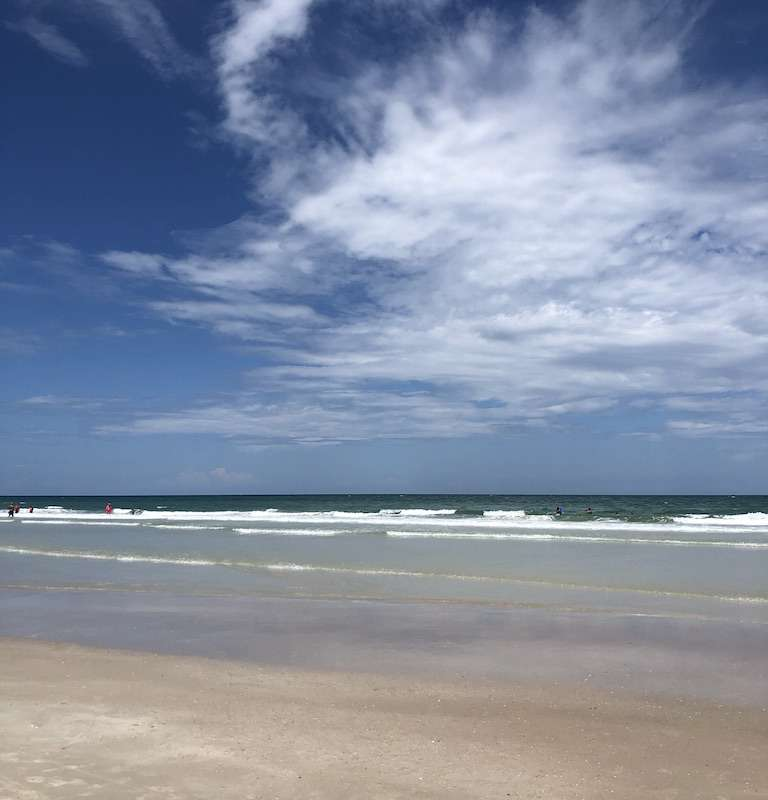 Florida beaches are wide and inviting
